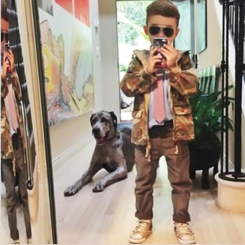 Alonso Mateo, el niño fashionista.