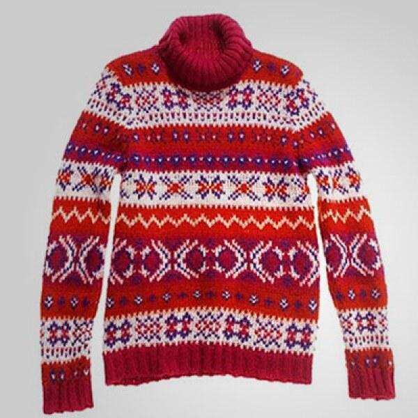 Este tradicional suéter te protegerá del frío, mientras cuidas tu estilo en un viernes causal.