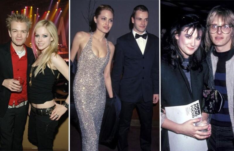 Avril Lavigne, Angelina Jolie y Demi Moore se casaron jóvenes y fracasaron.