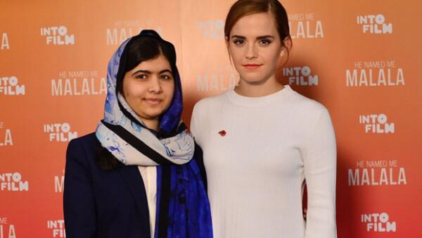 """La actriz entrevistó a la activista de 18 años con motivo del estreno de documental """"Él me llamó Malala""""; durante la plática quedó en evidencia su lucha común por los derechos de la mujer."""
