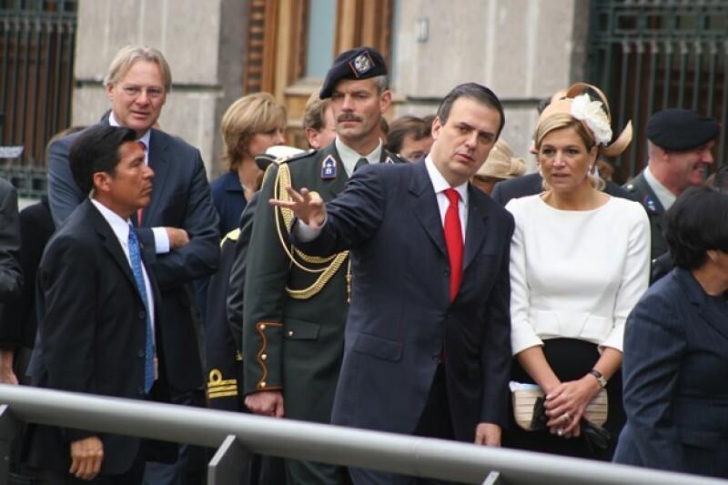 Aquí durante la visita de Máxima de Holanda a México en 2009.