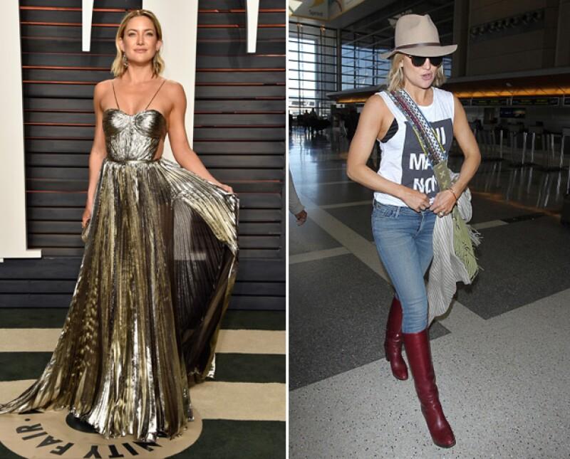 Kate brilló en los Oscar, pero no en el aeropuerto.