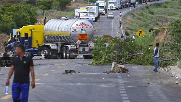 Los bloqueos dejan un saldo rojo a las empresas de transporte.