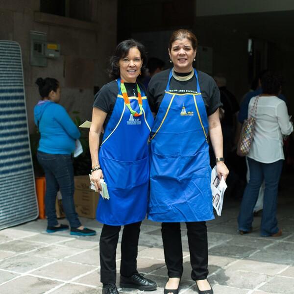 Cecilia Moctezuma y Sonya Santos