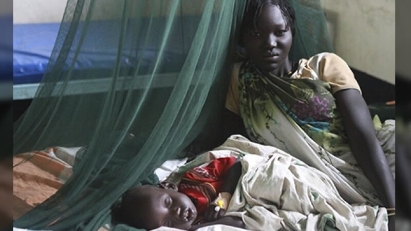 malaria enfermedad mujer nino