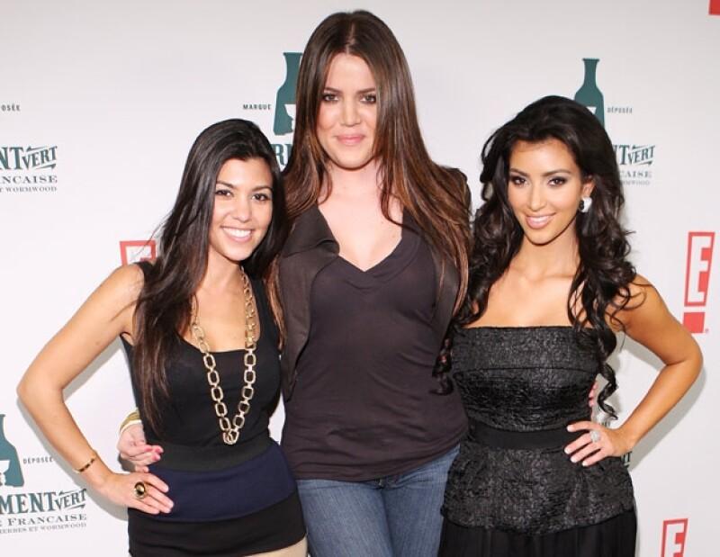 Las hermanas Kardashians: Kourtney, Khloe y Kim son muy influyentes a nivel mundial.