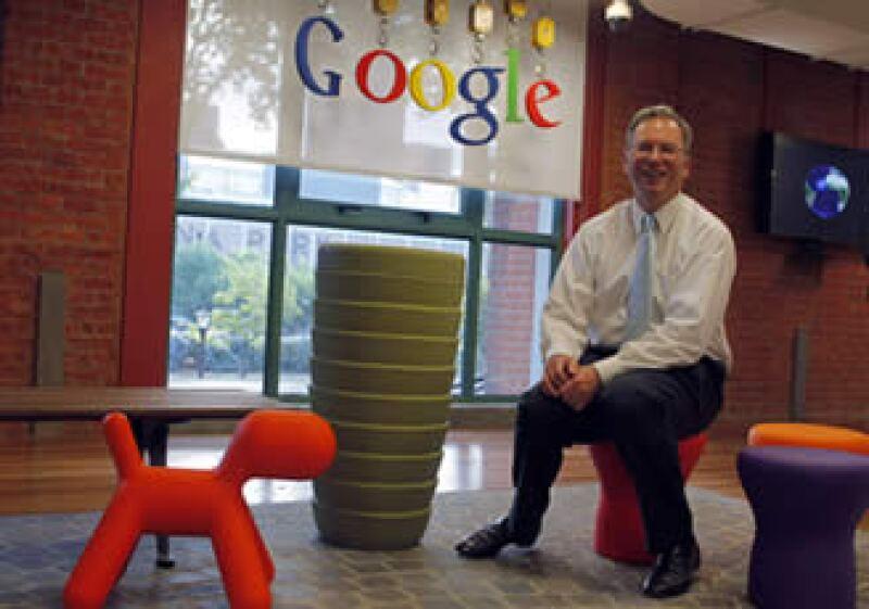 Eric Schmidt en las oficinas de Google en Buenos Aires, Argentina. (Foto: Reuters)