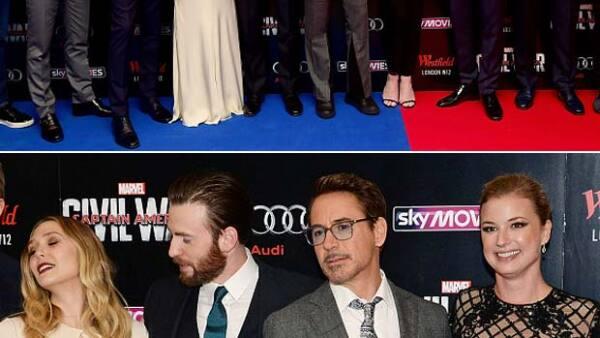 """Sin importar estar frente a cientos de personas y cámaras, el protagonista de """"Captain America"""" fue captado justo en el momento en el que no dejó de ver a Elizabeth Olsen."""