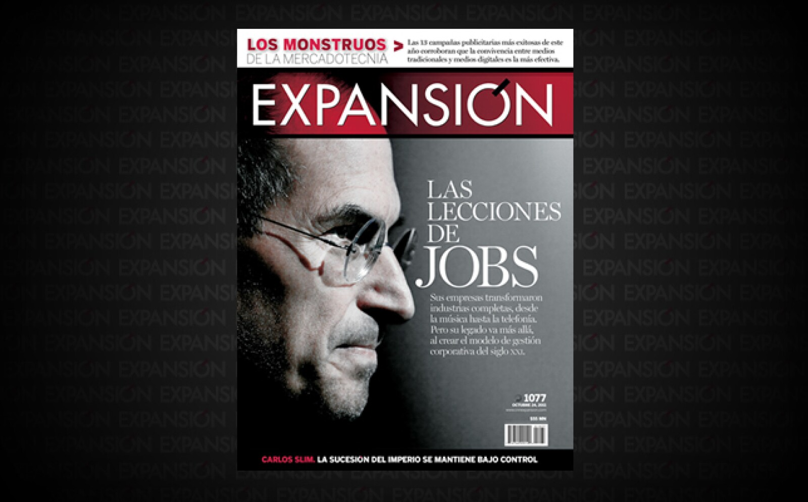 El 5 de octubre de ese año falleció el genio de Apple, Steve Jobs, Más allá de la innovación tecnológica, Expansión le dedicó un especial que explicaba cómo hacía funcionar sus empresas.