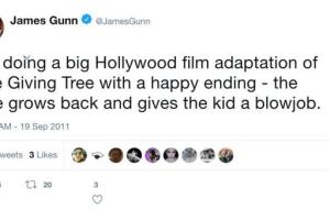 Tweet de James Gunn en 2011