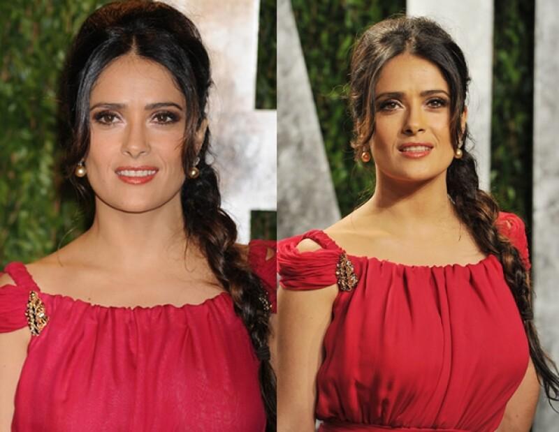 La actriz mexicana estuvo presente en la alfombra roja de la fiesta post-Oscar organizada por Vanity Fair; descubre lo que nuestra experta en moda de InStyle opinó de su look.
