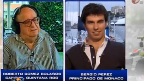 """El piloto mexicano Sergio """"Checo"""" Pérez anunció entusiasmado que portará el escudo del Chapulín Colorado en su casco, personaje de uno de sus ídolos personales, Roberto Gómez Bolaños."""