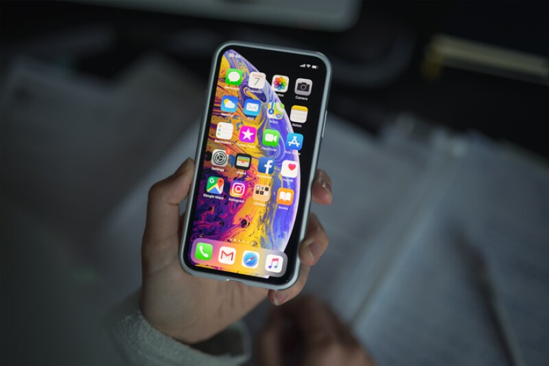iPhone XS With Protective Case