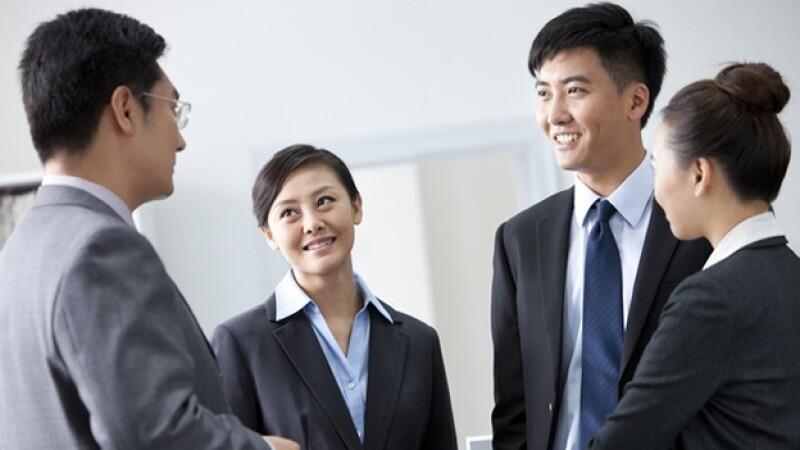 trabajo reunion equipo oficina chinos china