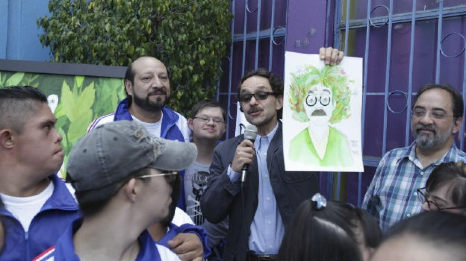 Gabriel Quadri visita la fundación arte down
