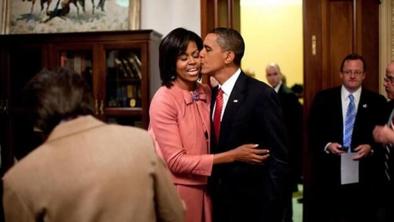 Barack Obama y su esposa Michelle Obama, San Valentin