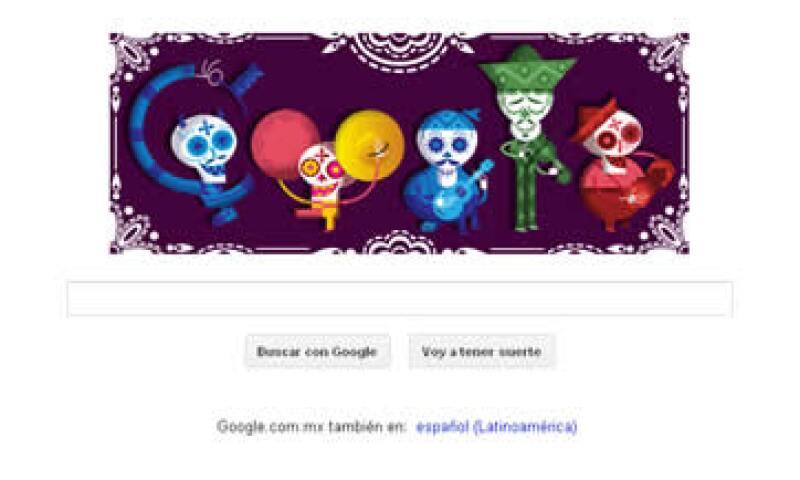 El doodle no es visible en otros países de Latinoamérica como Brasil, Argentina o Uruguay. (Foto: Tomada de google.com.mx)