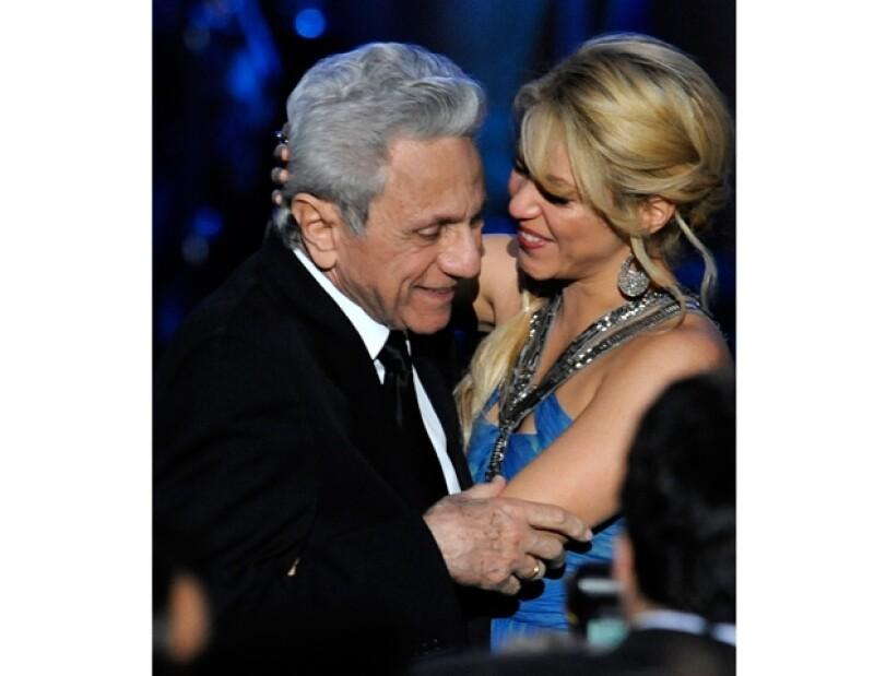 El padre de Shakira siempre ha estado al pendiente de la carrera de la cantante, aquí durante los Grammy Latino 2011.