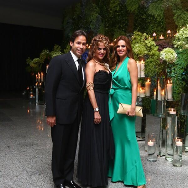 Bernardo Martínez, Claudia Margain y Luz Elena González