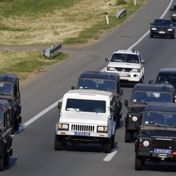 Mladic - convoy - Belgrado