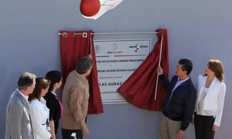 Enrique Peña Nieto inauguró en Baja California la presa Las Auras (Foto: Notimex)