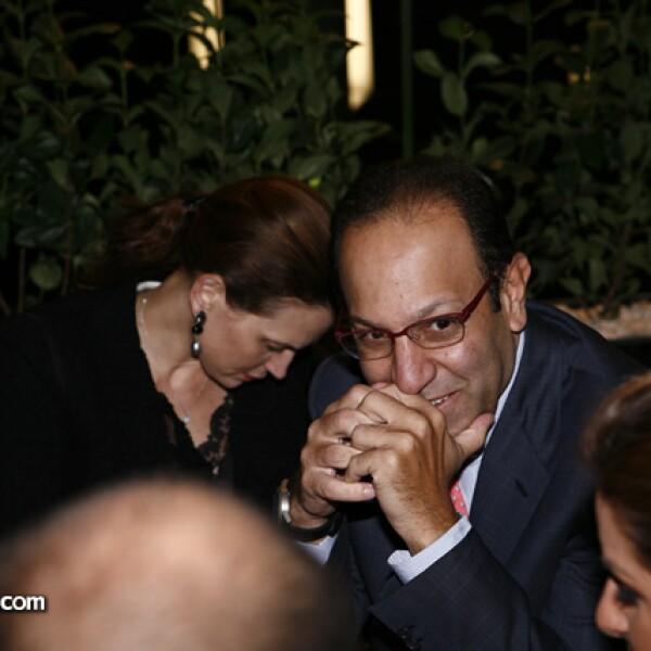 Ximena Serrano de Slim y Marco Antonio Slim