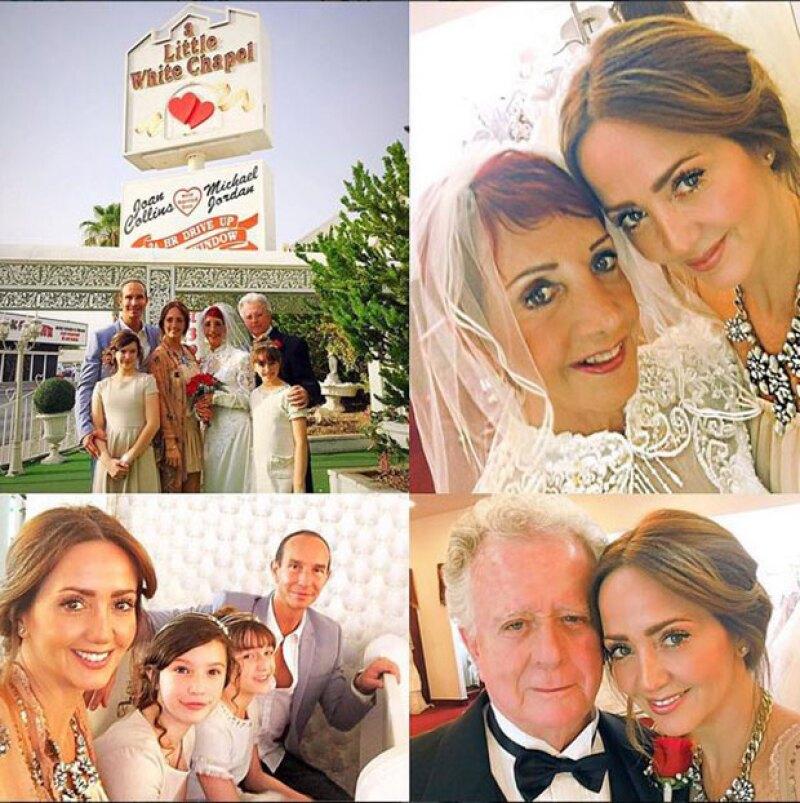 El fin de semana, Juan Legarreta e Isabel Martínez renovaron sus votos en Las Vegas y su hija, orgullosa, compartió en redes sociales su cariño y admiración hacia ellos.