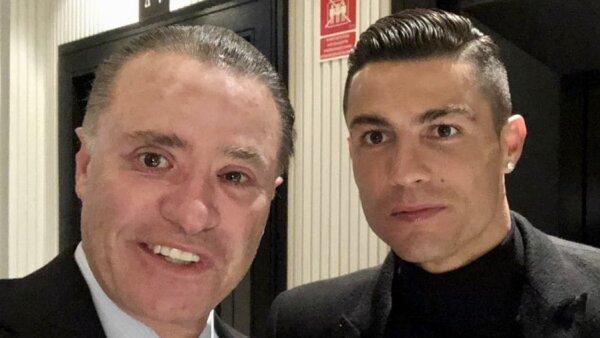Quirino Ordaz con Cristiano Ronaldo