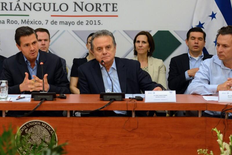 Enrique Peña Nieto, Pedro Joaquín Coldwell y Emilio Lozoya, vinculados a la corrupción en Petróleos Mexicanos.