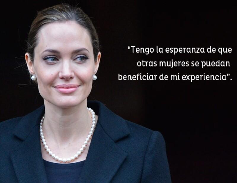 Angelina Jolie promueve la prevención del cáncer de mama.