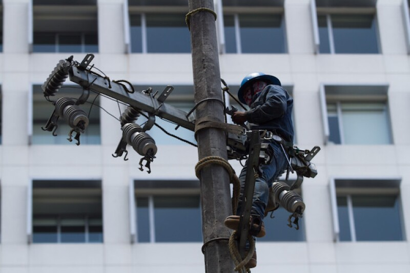 Poste de electricidad de CFE