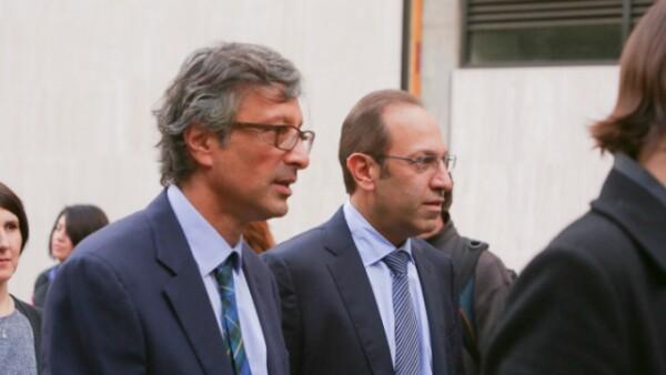 Alfonso Salem y Marco Antonio Slim.