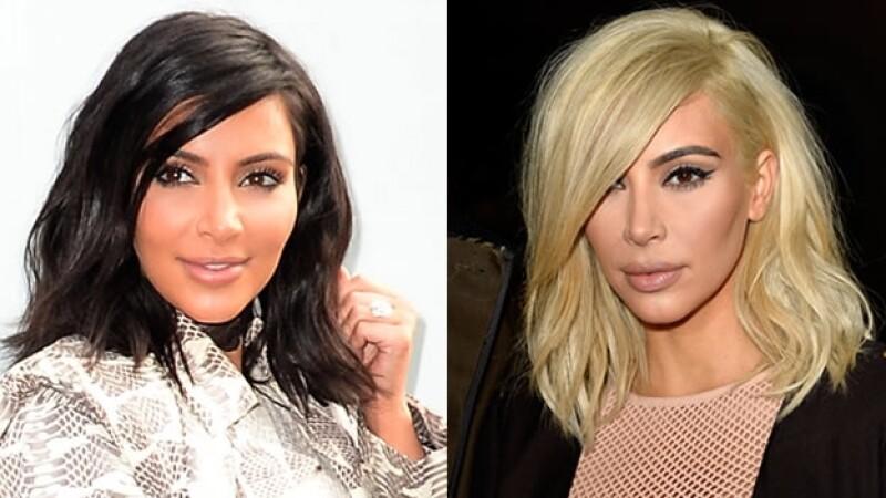 kim kardashian rubia