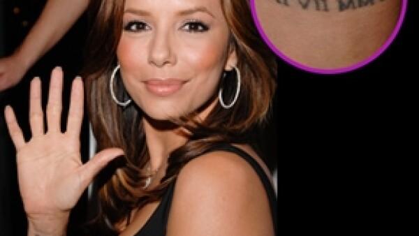 La actriz se encuentra en medio del proceso de divorcio y buscará a un profesional para borrar los dos tatuajes que tiene y hacen referencia a su relación con Tony Parker.
