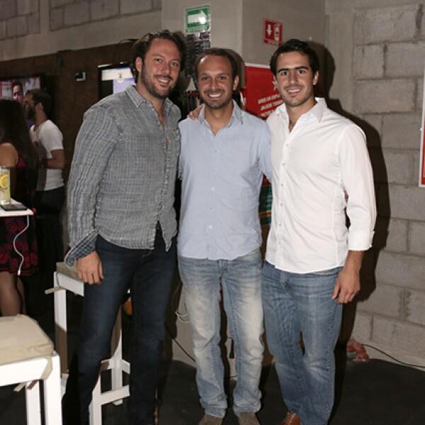 Jacobo Mekler, Sebastián Mitre y Santiago Galas
