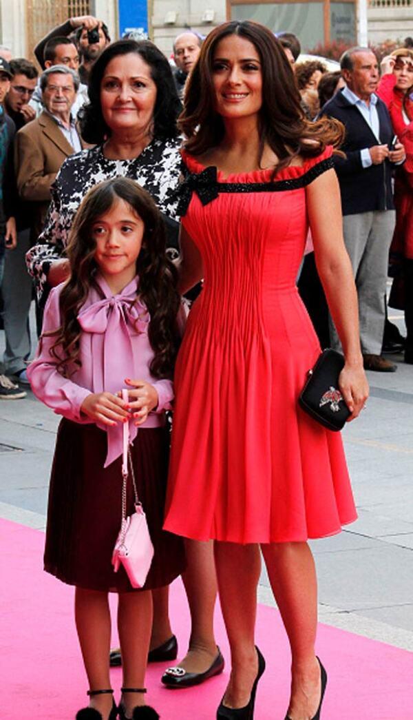 La actriz tuvo como acompañante a la premiación a su hija Valentina.