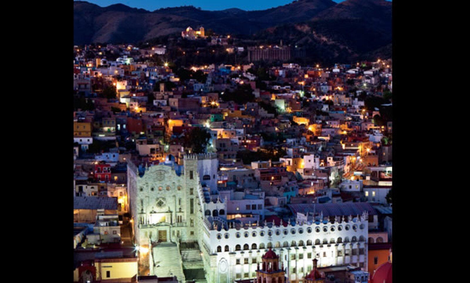 1.Vista de la ciudad de Guanajuato desde el mirador El Pípila.