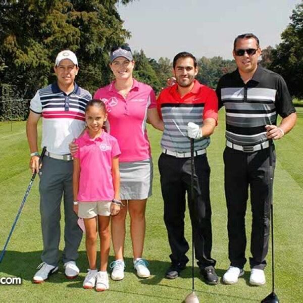 Luis y Claudia Hidalgo,Caroline Masson,Javier Vizcaino y Francisco Hidalgo