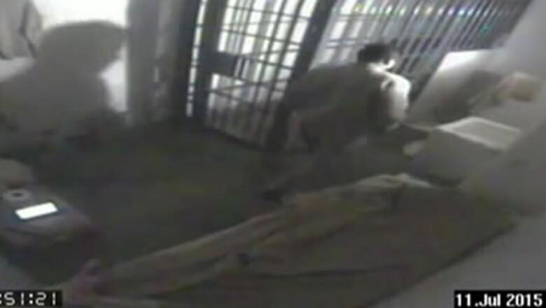 El líder del narcotráfico dio varias vueltas en su celda antes de comenzar su fuga