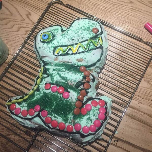 Así quedó el pastel preparado por el actor.