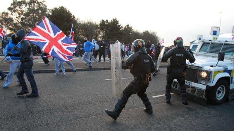 protestas irlanda del norte