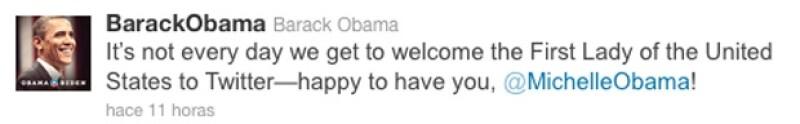 La primera dama de Estados Unidos creó su propia cuenta en la famosa red social.