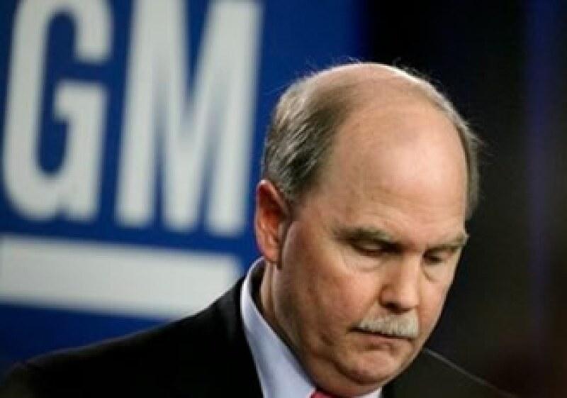 Fritz Henderson no pudo levantar las finanzas de General Motors. (Foto: AP)