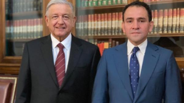 AMLO y Arturo Herrera