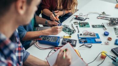 Determined students engineers