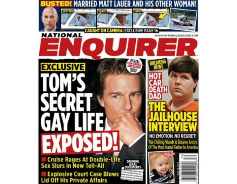The National Enquirer afirma contar con pruebas que revelarían la verdadera orientación sexual del actor hollywoodense.