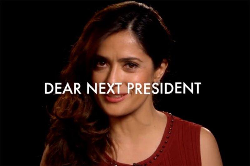 La actriz forma parte de una serie de videos publicados por `America With Jorge Ramos´ de la cadena Fusion, en donde expresa su punto de vista político y hace un llamado al futuro presidente.