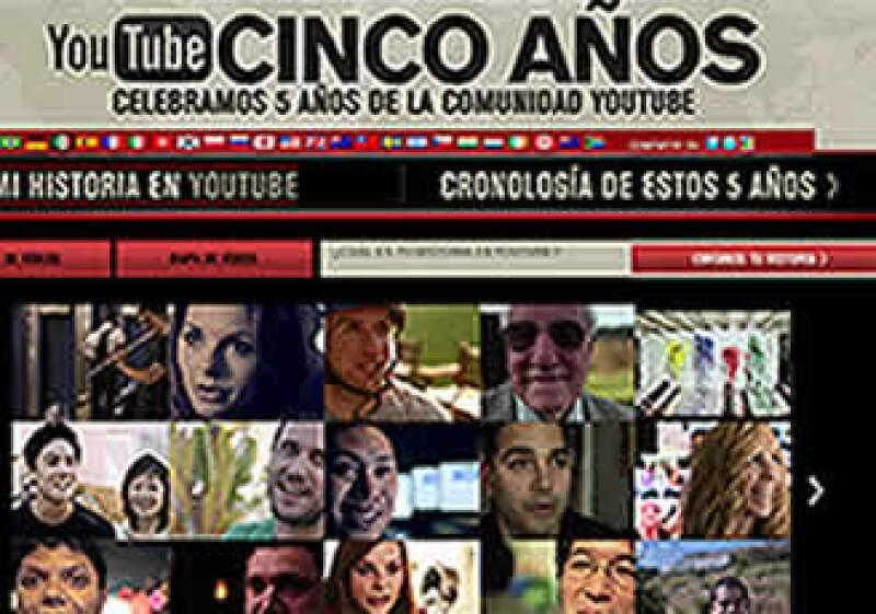 YouTube creó un canal especial para que sus cibernautas festejen con el sitio. ¿Cómo? Compartiendo videos. (Foto: Cortesía YouTube)