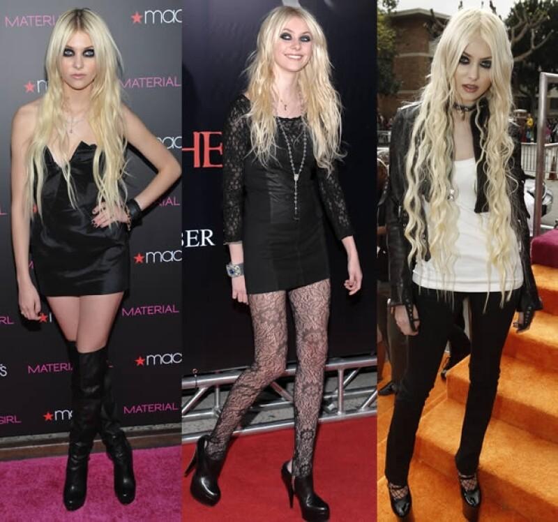 Taylor Momsen siempre viste con minis o con pantalones muy entallados.