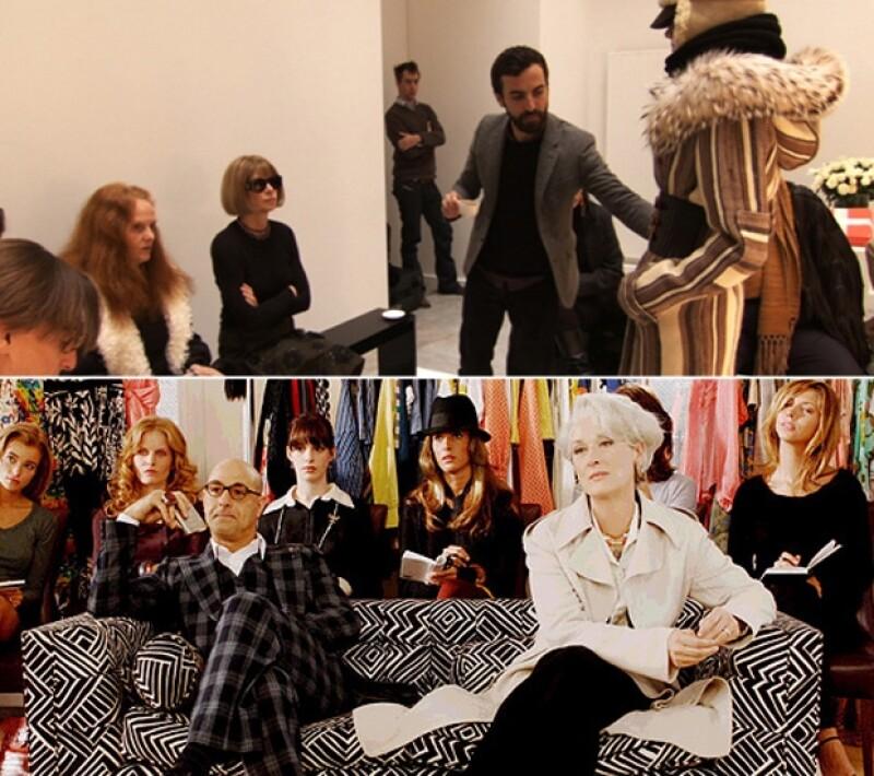 Anna y Miranda tienen la capacidad de hacer temblar a los diseñadores que le muestran sus colecciones de ropa, por lo que sus asistentes están atentos y a la altura de la ocasión en todo momento.